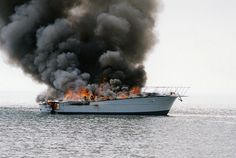 Three men were headed to Chicago on their boat when it caught fire about a half-mile offshore of Port Colborne, Ontario. All three were rescued by fellow boaters. I was on board the Port Colborne Marine Auxiliary Rescue (Pocomar) boat. (Pocomar is a  Marine sports are always fun Boater, Ontario, Traveling, Chicago, Canada, Fire, Sports, Men, Viajes
