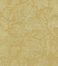 Home Decor Solid Fabric-Wavelry Classico Scroll Gold Dust
