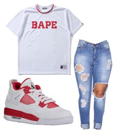 """""""like and comment please ❤❤"""" by lakesheia ❤ liked on Polyvore featuring A BATHING APE"""