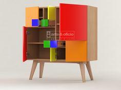 Arte & Oficio, Sutileza en el diseño y los detalles..!!! Mueble Aparador Fibonacci Colores..!!, Vista 2, (Las matemáticas como punto de partida del Diseño): Φ = (1+√5) /2 Showroom Arte & Oficio: Olazabal 4710 | Villa Urquiza | CABA.- Coordinar Cita Previa llamando al 15-4097-6325 http://arteyoficio.com.ar/aparador_fibonacci.htm