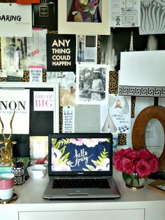 Now that's an inspiration board! via Bliss at Home