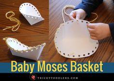 This Baby Moses basket craft is great. Bible Story Crafts, Bible School Crafts, Bible Crafts For Kids, Bible Study For Kids, Toddler Crafts, Bible Stories, Kids Bible, Bible Art, Sunday School Projects