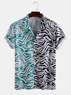 Newchic - Fashion Chic Clothes Online, Discover The Latest Fashion Trends Mobile Casual Tops, Casual Shirts, Mens Shirts Online, Collar Shirts, Men's Shirts, Types Of Sleeves, Short Sleeves, Chic Outfits, Grunge Outfits