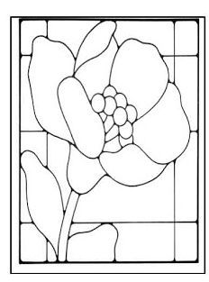 Image result for poppy stained glass pattern