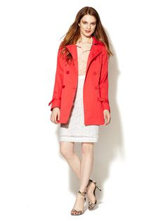 Kathy Classic Nylon Trench by Tahari Outerwear at Gilt