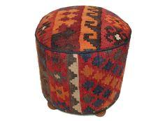orientalisch Kelim Hocker Fußhocker pouf C von orientart auf DaWanda.com