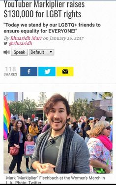 Yesss I's a part of the LGBT, great to know Mark supports equal rights ☺<< awesome! I had no clue he supported gay rights ! Overwatch, Youtubers, Lgbt Memes, Lgbt Community, Equal Rights, Markiplier, Faith In Humanity, My Guy, Gay Pride