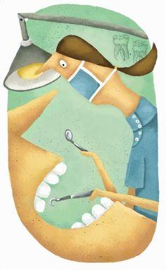 Marie-Eve Tremblay Medical Illustration, Illustration Art, People Illustrations, Dental, Eve, Street Art, Frames, Editorial, Toys