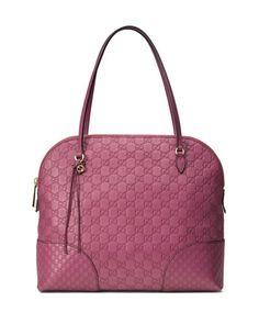 V2GZF Gucci Bree Guccissima Leather Top Handle Bag, Pink