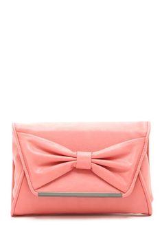 pink bow clutch / LuLu