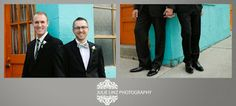 The handsome grooms by Julie Linz Photography.  Commitment ceremony, gay weddings, Short North Columbus OH