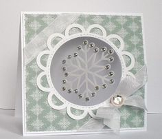 suspended snowflake card, includes several beautiful snowflake svg's