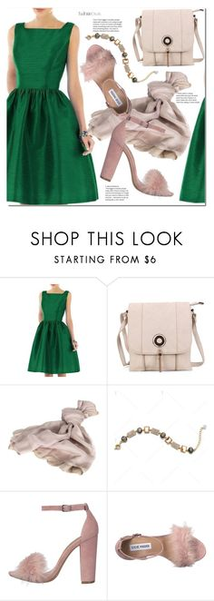 """""""Green dress"""" by duma-duma ❤ liked on Polyvore featuring Valentino and Steve Madden"""