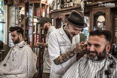 Schorem Barbers for Playboy — Tim Collins Photography Barber Tattoo, Barber Logo, Barber Shop Pictures, Tony Barber, Tattoo Studio Interior, Rockabilly, Hair Pomade, Beard Oil, Beauty Shop