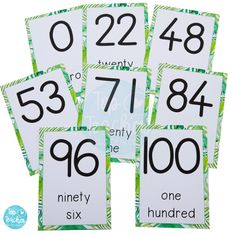 Tropical Number and Word Posters Word Poster, Math Poster, Classroom Design, Maths, Early Childhood, Curriculum, Innovation, Numbers, The 100