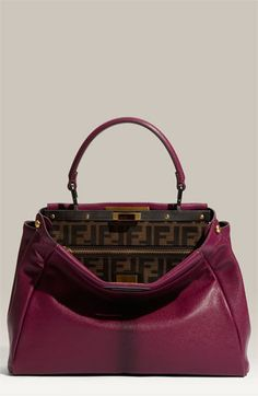 Fendi 'Peekaboo - Small' Goatskin Leather Satchel $2690