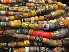Antique Venetian beads from the African trade.    African Trade Beads  Just like the cowrie shell, glass and ceramic beads like these,can date back to the early 19th century and beyond were used as a form of currency in many African countries.    This is Africa, our Africa
