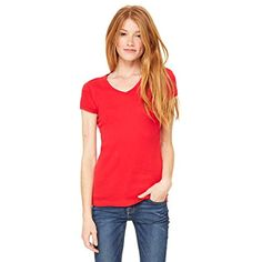 42c1c109a Studio |LA| Women's Baby Rib Short Sleeve V-Neck Tee ** Visit the image  link more details. (This is an affiliate link and I receive a commission  for the ...