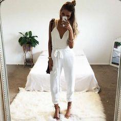 Sexy White Jumpsuit Rompers Womens Jumpsuit Overalls Elegant Monos Largos De Mujer 2016 Salopette Macacao Feminino Longo Brand