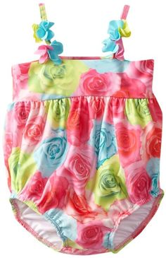 Amazon.com: Kate Mack Baby-Girls Newborn Hula Flowers Swim Print Bubble: Clothing