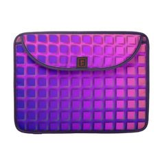 #Pink and #Purple Funky Squares Pattern Sleeves For #Macbook Pro $59.60