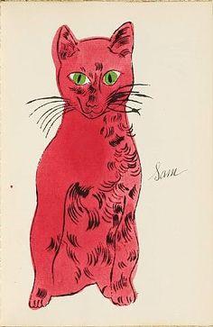sam 'Sam the Cat ' - 1954 Andy Warhol (앤디워홀) -1928~1987- 미국 팝아트의 선구자, 대중미술과 순...