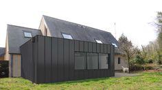 Rénovation et extension d'une maison individuelle, vers le jardin...