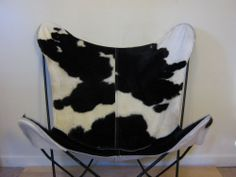 Knoll Hardoy BKF butterfly chair cowhide cover. Mid century Eames COVER ONLY