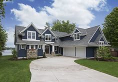 Lake House with Navy Exterior
