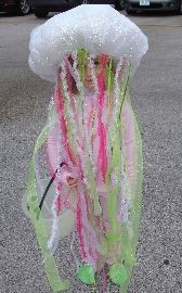 Jellyfish- a little girl on our street was a jellyfish last year for Halloween, and her's lit up.  It was so cute!