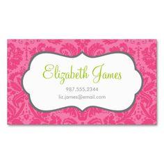 Damasco del vintage de las rosas fuertes tarjetas de negocios