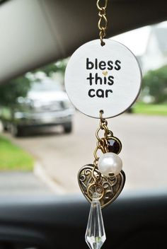 Excited to share this item from my shop: Religious Car Charm, Bless This Car, Christian Access Rear View Mirror Accessories, Car Accessories For Women, Car For Teens, Teen Girl Gifts, Shops, Operation Christmas Child, Cute Cars, Kids Christmas, My Etsy Shop