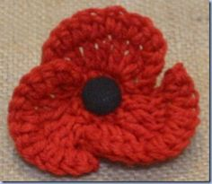 Crochet Remembrance Poppy - free pattern from The Sunroom