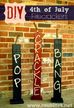 4th of July Crafts: firecrackers