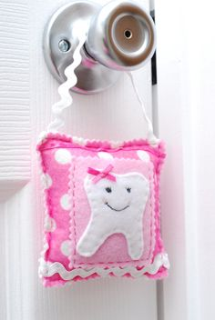 Girls Tooth Fairy Pillow  customize by ArtToHeartCreations on Etsy, $11.80