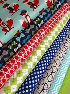 Fox fabric bundle by Andie Hanna for Robert Kaufman-Fat Quarter Bundle- 8 total on Etsy, $24.00
