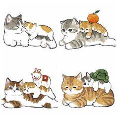 Kawaii Doodles, Kawaii Art, Cute Little Kittens, Cute Cats, Cute Animal Drawings Kawaii, Cartoon Drawings, Kitten Drawing, Cat Icon, Dibujos Cute