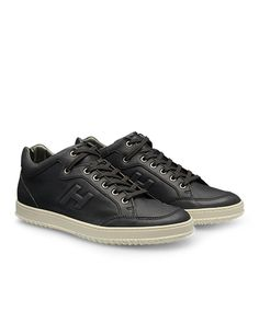 #HOGAN Men's Spring - Summer 2013 #collection: leather MID CUT #sneakers H168.