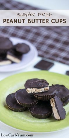 Delicious sugar free peanut butter cups with only 2 grams net carbs each. With carbs so low, go ahead and enjoy this low carb keto candy. | http://LowCarbYum.com via /lowcarbyum/