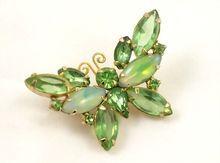 Verified Vintage D DeLizza & Elster Juliana Rhinestone Butterfly Pin