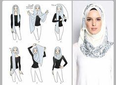 Layer Cake hijab tutorial by duckscarves. ♥ Muslimah fashion & hijab style Layer Cake hijab tutorial by duckscarves. Hijab Simple, Simple Hijab Tutorial, Hijab Style Tutorial, Scarf Tutorial, Tutorial Hijab Wisuda, Hijab Chic, Stylish Hijab, Modern Hijab, Islamic Fashion