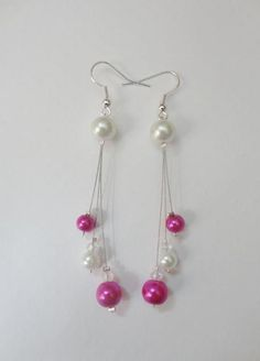 Pearl Bead Drop Earrings #beadingearrings #diyearrings #pandahall  PandaHall Promotion: use coupon code MayPINEN10OFF for 10% off for your orders, valid time from May 18 to May 31.
