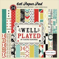 CB Well Played Paperpad - Scrapbooking - Carta Bella | MarZ Kreatiek