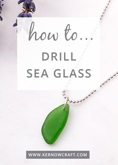 Watch our video tutorial on how to drill a hole in a piece of sea glass and transform it into a beautiful necklace! Get all the tools and supplies you need online now...