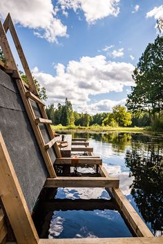 students build floating structures for a seasonally-flooded area in estonia