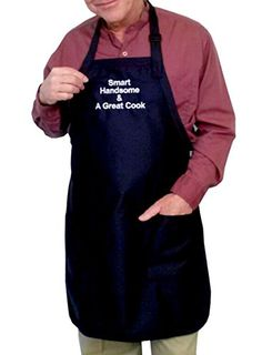 On Sale! - Smart Handsome and a Great Cook - Apron - Average size - Blue - Funny Aprons for men G4FF http://www.amazon.com/dp/B00FNV02FY/ref=cm_sw_r_pi_dp_apgywb19F2C07