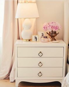 Missing peonies in your feed? Not to worry, I still have plenty of pictures to s. Bench Furniture, Funky Furniture, Furniture For Small Spaces, Upcycled Furniture, Industrial Furniture, Luxury Furniture, Painted Furniture, Gold Dresser, Dresser As Nightstand
