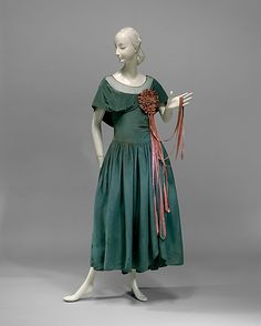 Dress, Jeanne Lanvin (French, 1867–1946) for the House of Lanvin (French, founded 1889): 1927, French, silk.