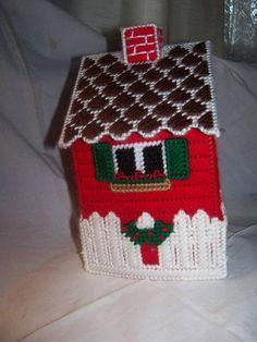 Cubierta de la caja de lona plástica Navidad tejido de