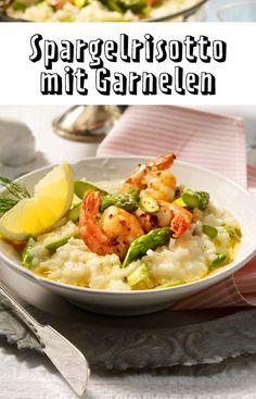 #Risotto mit grünem #Spargel und #Garnelen - so gelingt das #Rezept